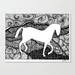 Horse on the Plains Canvas Print
