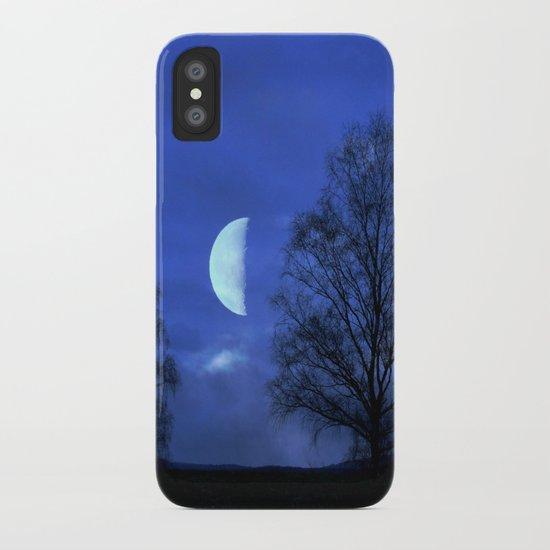 Moon between Trees  - JUSTART © iPhone Case