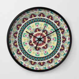 Sloth Yoga Medallion Wall Clock