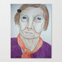 she smirks Canvas Print