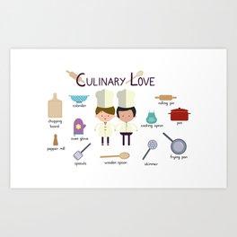 Culinary Love Art Print