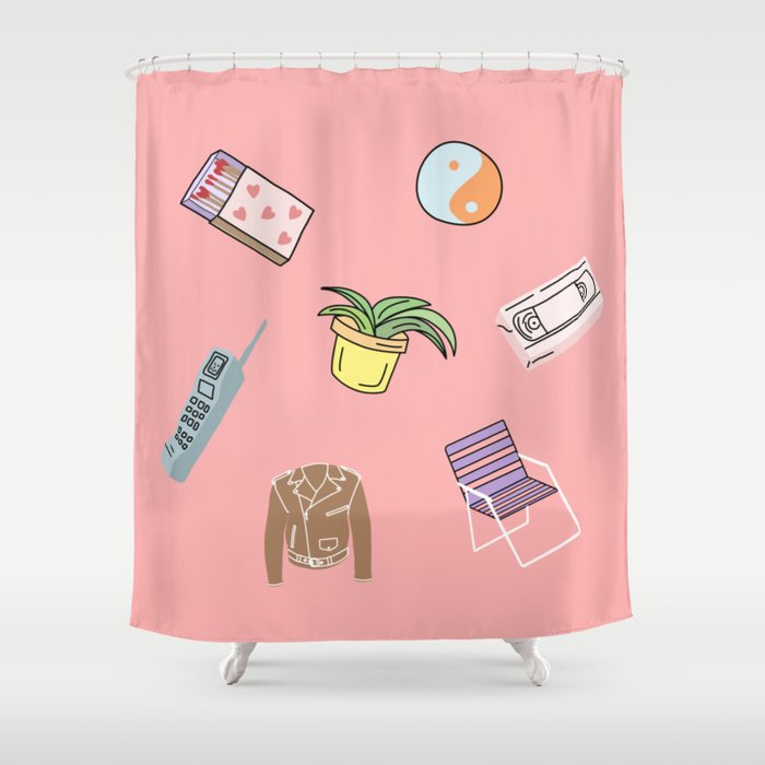 THINGS Shower Curtain