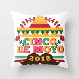 Cinco De Mayo 2018 Celebration Party Throw Pillow