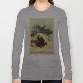 Vintage French drowned sailors charity advertising Long Sleeve T-shirt