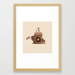 Caffeinated Love Framed Art Print