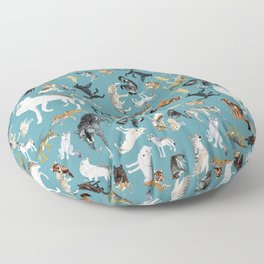 Wolves of the World pattern 2 Floor Pillow