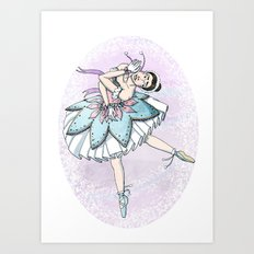 Snow Ballerina  Art Print