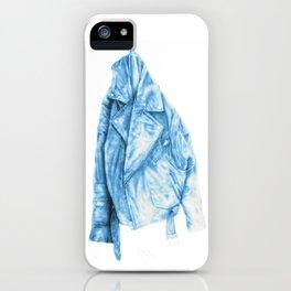 Leather Jacket (Pastel blue) iPhone Case