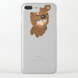 Furry baby Clear iPhone Case