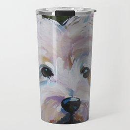 Westie Impressionism Pet Portrait Larsen 1 Travel Mug