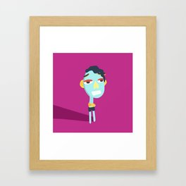 Standing Blue Framed Art Print