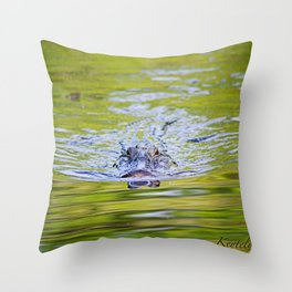 Creepin Gator Throw Pillow