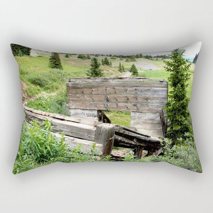 Black Bear Pass Road - Gold Rush Ore Loading Chute, No. 3 of 3 Rectangular Pillow