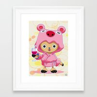 one piece Framed Art Prints featuring One Piece: TonyTony Chopper by Neo Crystal Tokyo