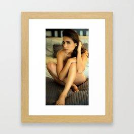 Bedtime Nude Framed Art Print