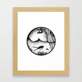 CLIMB / SCUBA DIVING Framed Art Print