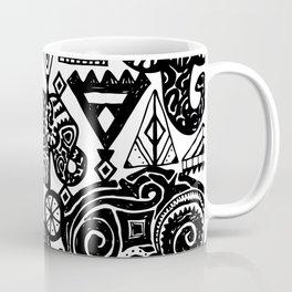Beautiful boho pattern Indian Elephant with ornamental. Hand drawn ethnic tribal decorated Elephant Coffee Mug