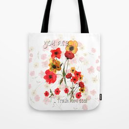 yellow and red bunch of flowers Tote Bag