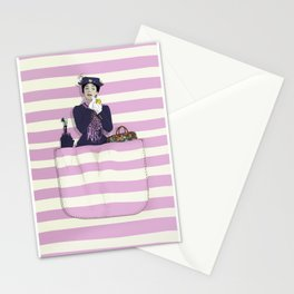 mary in the pocket Stationery Cards
