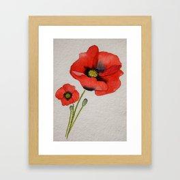 Watercolour Poppies Framed Art Print