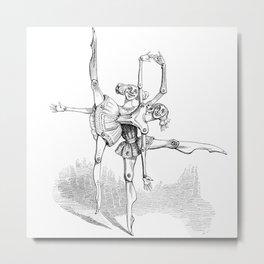 Paper Doll Ballet Dancers Metal Print