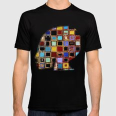 living in a box (global)3.version Black MEDIUM Mens Fitted Tee