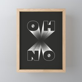 o h  n o! Framed Mini Art Print