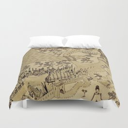 The Wizard world of Hogwarts Duvet Cover