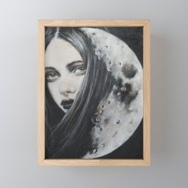 Weeping Heart and the Moon Framed Mini Art Print