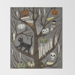 halloween tree Throw Blanket