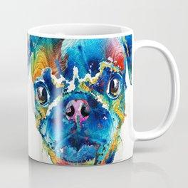 Colorful Pug Art - Smug Pug - By Sharon Cummings Coffee Mug