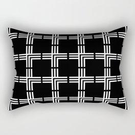Geometric Plus Sign Pattern Rectangular Pillow