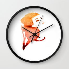 Orange Wall Clock