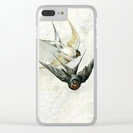 Vintage Soaring Birds Clear iPhone Case