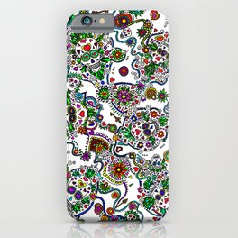 Day Of The Dead Sugar Skulls Key And Locks iPhone Case