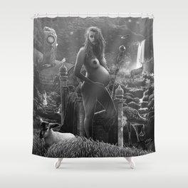 III. The Empress Tarot Card Illustration Shower Curtain
