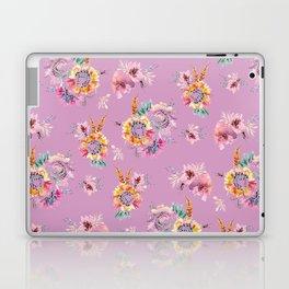 Meadow Flowers on Pastel Purple Laptop & iPad Skin