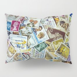 Postage Stamps Pillow Sham