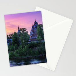 Delightful Russian evening Stationery Cards