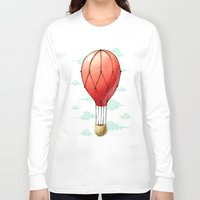 hot air balloon Long Sleeve T-shirts featuring Hot Air Balloon by Freeminds