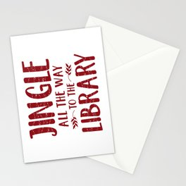 Jingle All The Way To The Library (Red) Stationery Cards