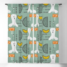 Mid-century spooky pattern Blackout Curtain