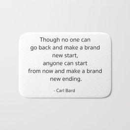 Starting – Carl Bard Bath Mat