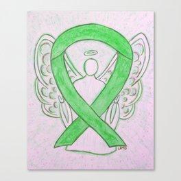 Lime Green Awareness Ribbon Angel Art Canvas Print