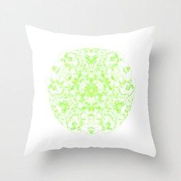 Mandala Trinity green Emerald Peridot Throw Pillow