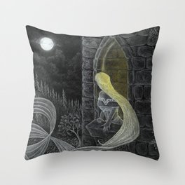Rapunzel by Night Throw Pillow