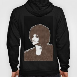 Angela Davis - Black Background Hoody