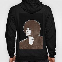 Angela Davis - Black Background Hoody