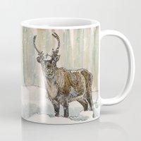 reindeer Mugs featuring Reindeer by Meredith Mackworth-Praed