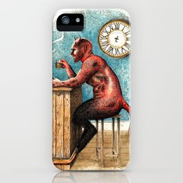 The Demon Drinks iPhone Case